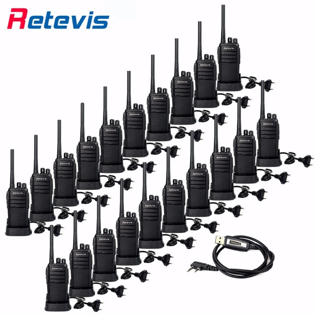 20pcs Cheap Wholesale Retevis RT21 Walkie Talkie Professional Two way Radio UHF Band Scrambler VOX Ham Radio Comunicador 2.5W RU
