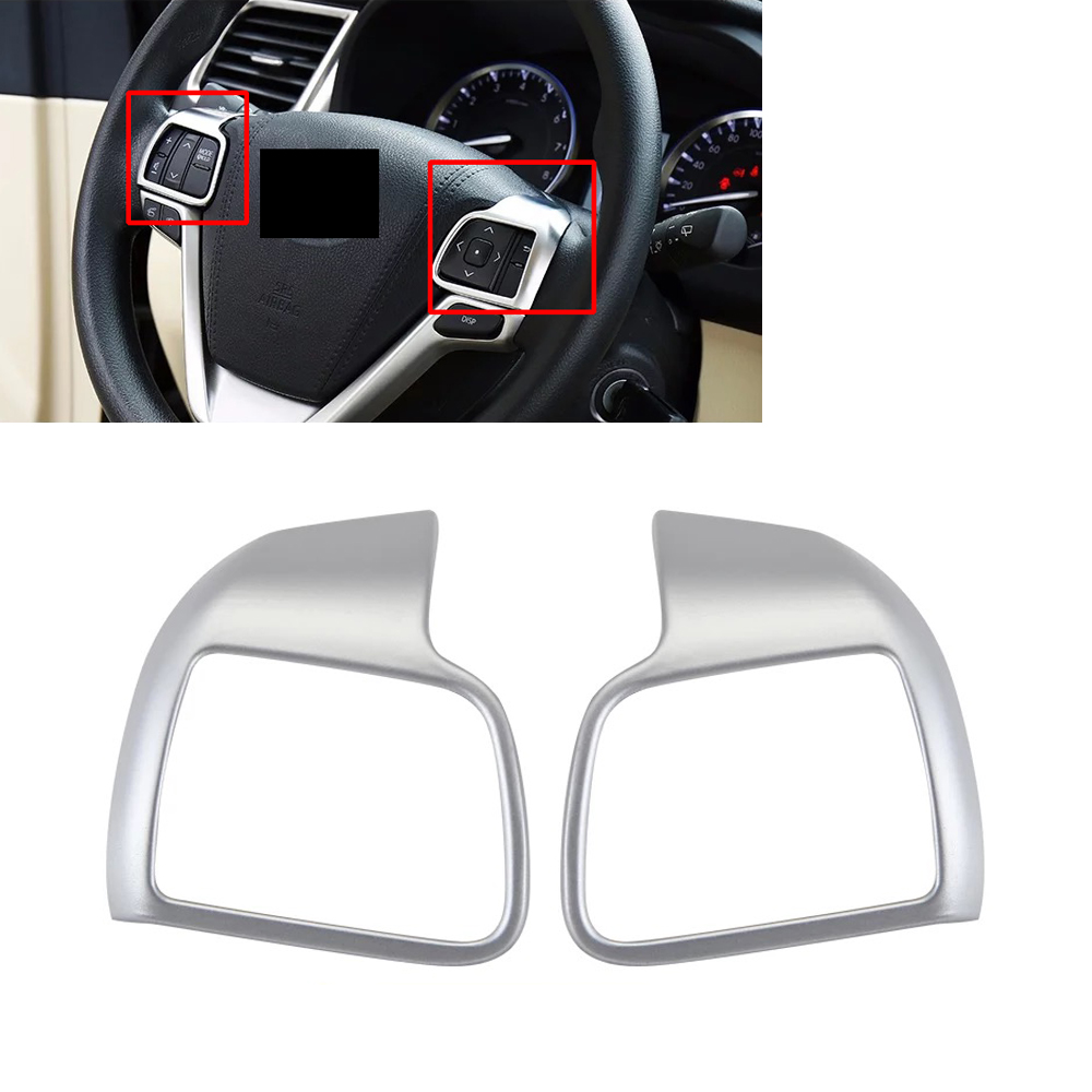 Car Styling Matte ABS Chrome Inner Interior Steering Wheel Audio Switch Cover Trim for Toyota Highlander 2014 2015 2016 2017 citall 4pcs car interior abs matte chrome door window switch console panel cover trim for toyota highlander 2014 2015 2016 2017
