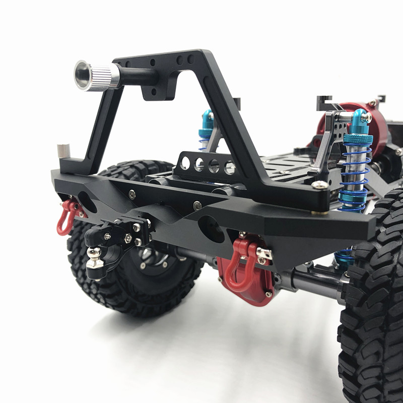 Image 5 - Metal Black Front Bumper(Rear bumper)  for 1/10 RC Crawler Car Traxxas TRX 4 Axial  SCX10 II 90046-in Parts & Accessories from Toys & Hobbies