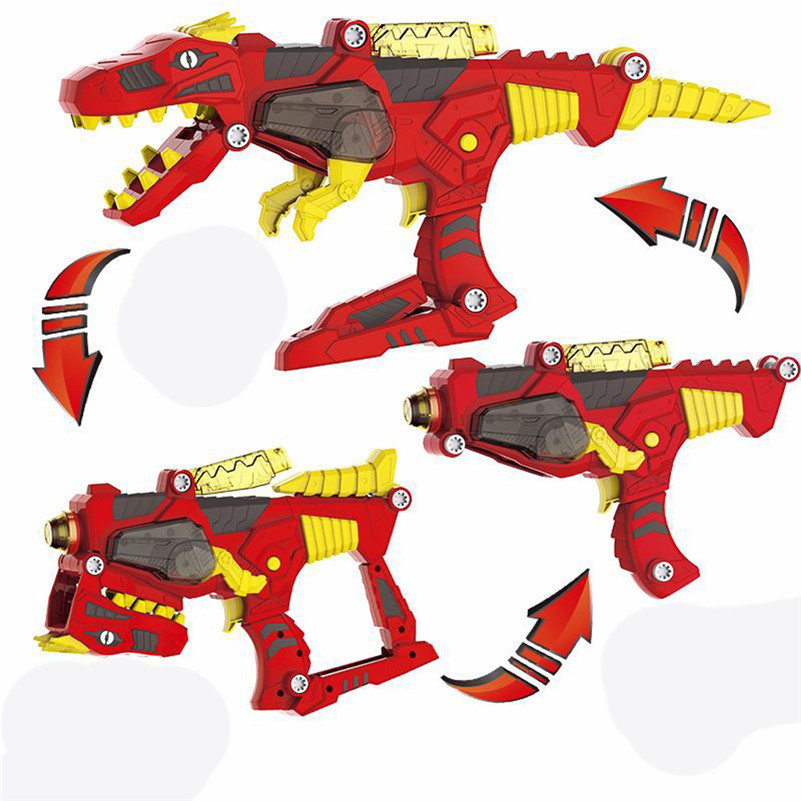 Transforming Dinosaur Toy Lights Sound 2 In 1 T-Rex Super Charge Morpher Toy Mascotas Animais  Electronicas Gift For Kid B2