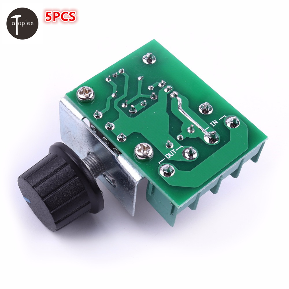 5PCS 50~220V 2000W PWM AC Stepper Motor Speed Controller Knob Adjustable Motor Speed Controller Voltage Regulator