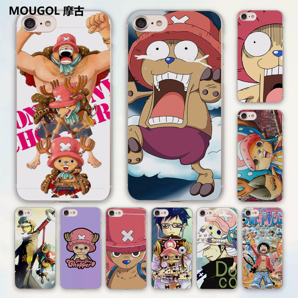 MOUGOL anime One Piece luffy Law Chopper design hard clear Case Cover for Apple iPhone 7 6 6s Plus SE 4s 5 5s 5c Phone Case