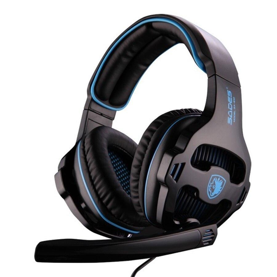 SADES 810 SA-810 sa810 3.5mm Wired Stereo Gaming Headset game headphones with Mic for PC/ Laptop/ps4/Mobile phone /ipad,sa-903