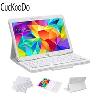 CucKooDo 30Pcs/lot For Samsung Galaxy Tab S 10.5 (SM T800) DETACHABLE Bluetooth Wireless Keyboard Stand Thin High Quality Case