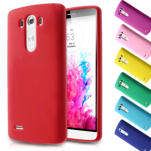 Cajas del teléfono cubierta de bolsa para lg d850 lg g 3 desnuda de silicona caso para lg g3 d850 d855 ls990 5.5 pulgadas