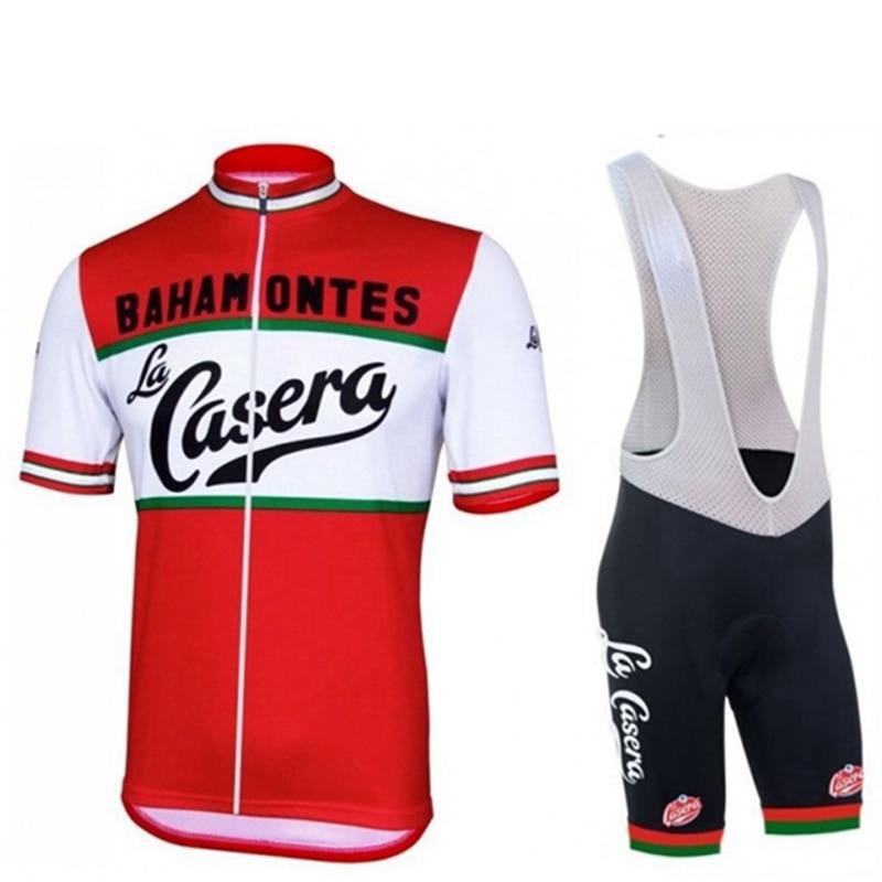 2018 Xvertex Men S Summer La Casera Vintage Cycling Jersey