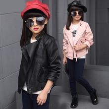 Filles Vêtements Automne Hiver Adolescents Filles Vêtements Faux Veste En Cuir PU Survêtement Manteaux Enfants Filles Veste Enfants Vêtements