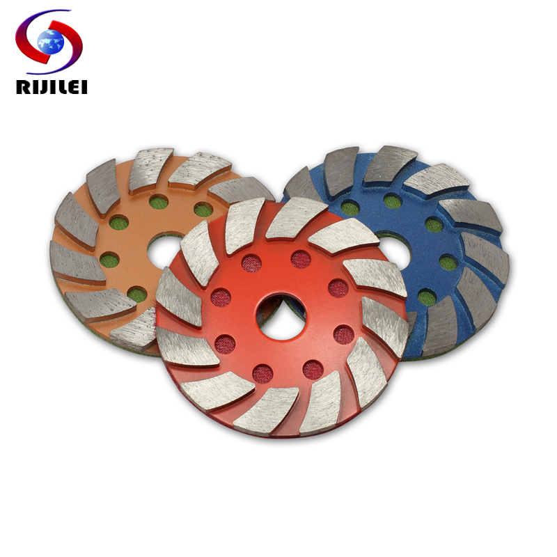 RIJILEI 3PCS 4inch metalinis deimantinis poliravimo padas 100mm šlapio arba sauso betono grindų poliravimo padas marmuro granitas Šlifavimo diskas 4JKP
