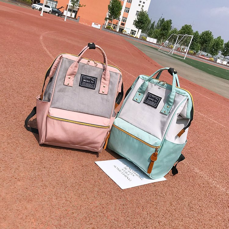 Hit Color Women's Backpack High Quality Canvas High Capacity Teen Girls Backpacks School Bag Lady Shoulder Bag eglo подвесной светильник eglo razoni 92251