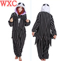 The nightmare before christm onesie esqueleto halloween jack macacões onesies adulto unisex pijama cosplay fancy dress wxc