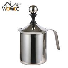 WOWCC 400/800 ml Edelstahl Milchaufschäumer Schäumer Doppel Mesh Schaum Bildschirm Cappuccino Kaffee Milch Creamer Küche Werkzeug Beater