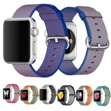 Mode Casual Nylon Montre Tissé Bande Pour Apple Montre 38mm 42mm Sangle En Nylon Adapte 130-200mm poignets Sport Bracelets Pour iWatch