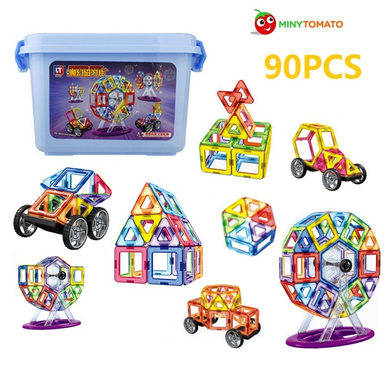 Free Ship 90pcs/lot 3D Enginneer Cars Magnetic Assembling Building Blocks DIY Learning & Education Toys Bricks Toys for Children 8 in 1 military ship building blocks toys for boys