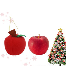 1 pc Lovely Christmas Lucky Red Apple Tree Decoration Small Charms Hangings Xmas Party Decorative Polyfoam Ornaments New Year