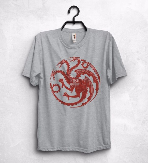 Game Of Thrones Fire and Blood Dragons Cotton Short Sleeve Men's T-Shirt