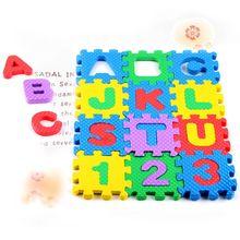 36 шт., Детские обучающие материалы по математике, буквенно-цифровые Обучающие блоки-головоломки, детские игрушки, подарок для школы