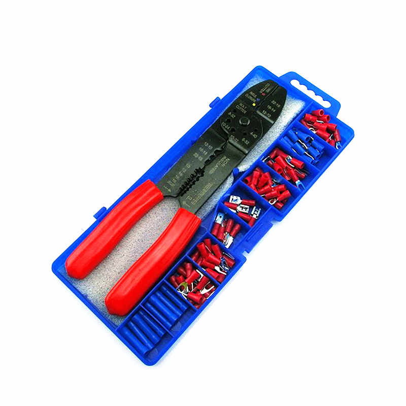 Multi-function Wire Terminal Crimping Tool Crimper Cable Stripper Clamp Pliers Stripping Tool Set Plus Accessories automatic stripping pliers thread crimping pliers stripper peeling pliers electrician pliers