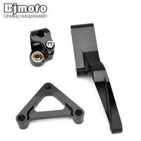 BJMOTO Motorcycle CNC Steering Damper Bracket Mount For DUCATI 696 796 795 Moto Shock Absorber Direction Dampering