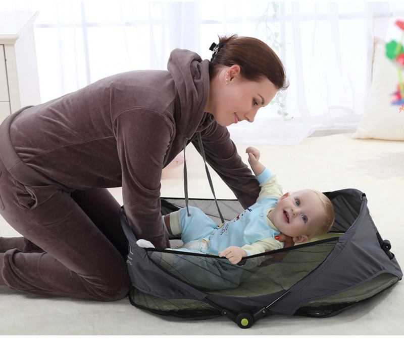 Portable Baby Bed Folding Travelling Bed Novelty High Quality Baby Folding Bed Cradles Crib Infant Safety On The Go Bassinet 1pcs jollybaby brica portable folding travel bassinet baby bed baby crib bed on the go infant bed