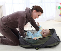 Portable Baby Bed Folding Travelling Bed Novelty High Quality Baby Folding Bed Cradles Crib Infant Safety On The Go Bassinet
