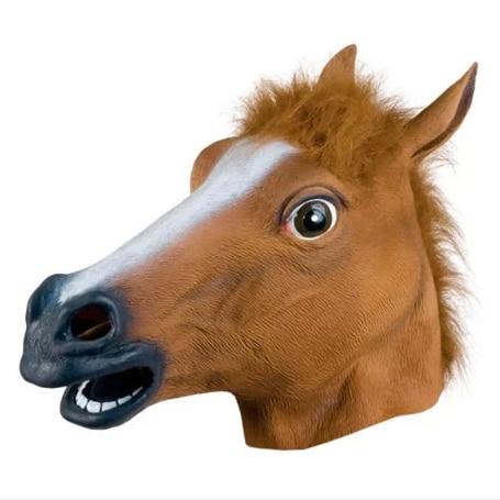 Fashion gangnam mask wigs animal horse dog natural eco-friendly latex