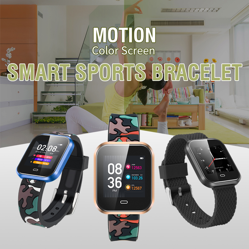 100% original smartwatch CD16 1.3 HD color screen heart rate blood pressure fitness tracker IP67 waterproof fashion smart watch