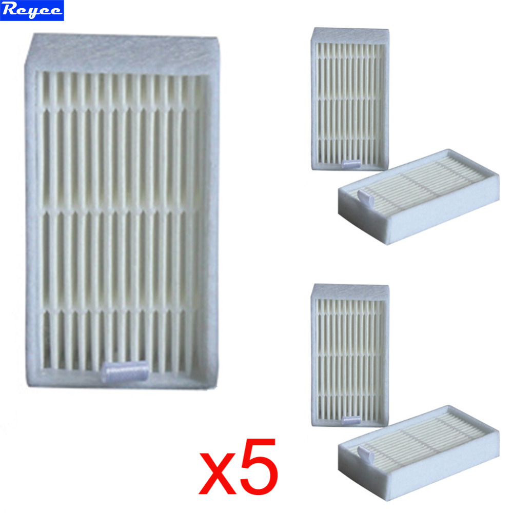 все цены на 5Pcs/Lot dibea x500 White Filters hepa filter for Ecovacs Mirror CR120 Dibea x500 x580 Series Vacuum Cleaner Free shipping онлайн