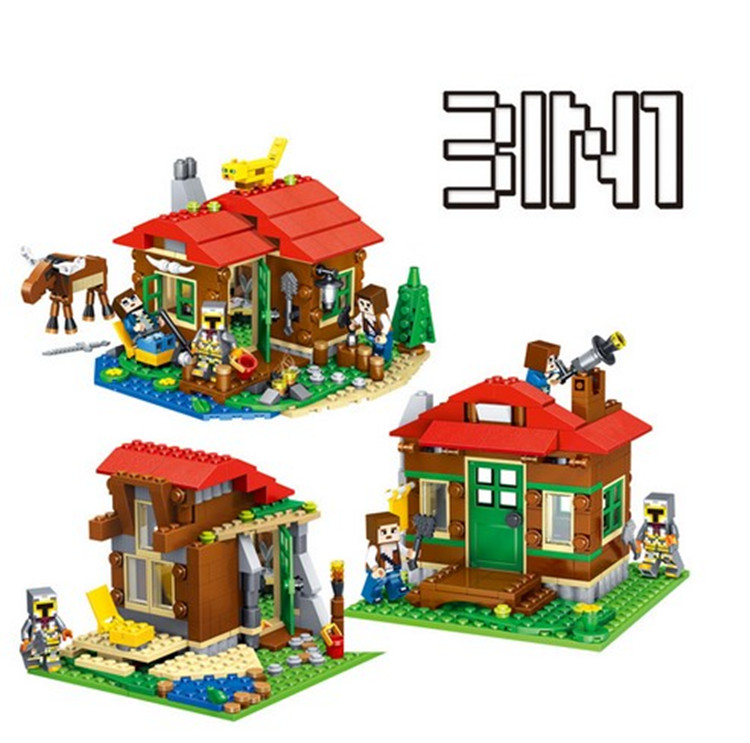 CHINA BRAND Educational Toys for children DIY Building Blocks 3in1 Lakeside Lodge 31048 Compatible with Lego china brand l0409 educational toys for children diy building blocks 00409 compatible with lego