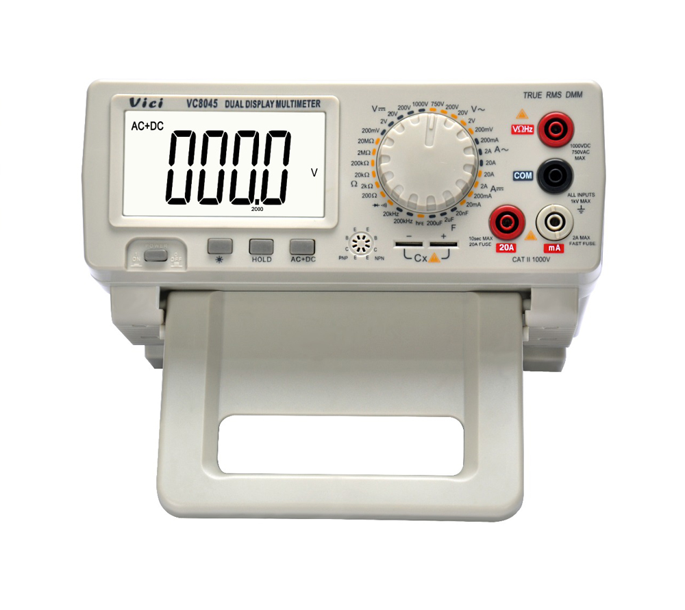 VC8045 Bench Top 4 1/2 True RMS Digital Multimeter 1000V 20A Desktop Multimeter Tester Digital Multimetro Ammeter DCV/ACV/DCA/AC victor vc9808 3 1 2 digital multimeter dcv acv dca r c l f