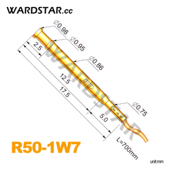 100pcs/lot R50-1W7 Length 17.5mm Spring Test Probes Receptacle Pre-Wired Wholesale