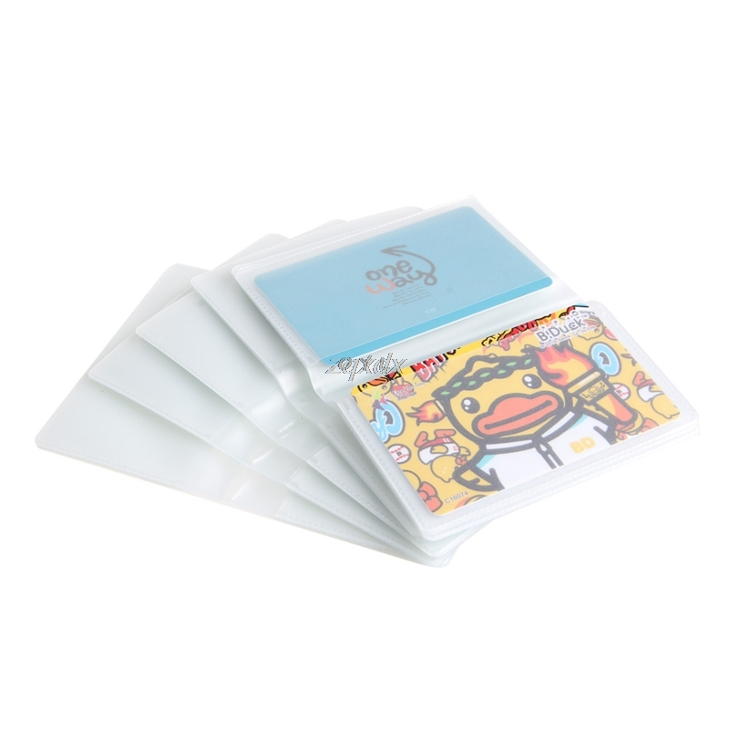 5 X 6Page 24Card Plastic Wallet Insert For Bifold Business Credit Card Holds New Z11 Drop Ship