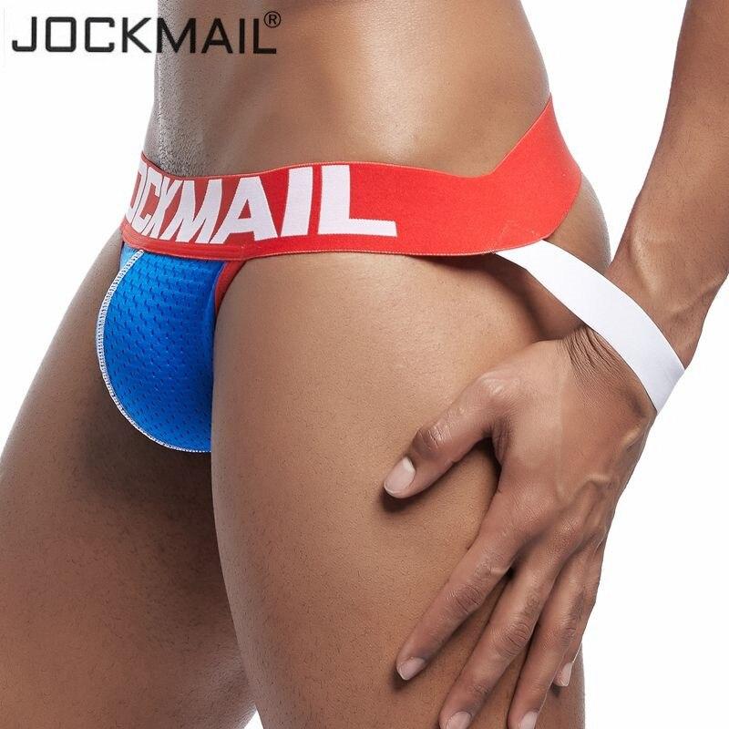 JOCKMAIL Nylon Low Rise Gay Mens Thongs And G Strings Sexy Men Underwear Penis Pouch Panties Mens Bikini Briefs Jockstrap Cueca