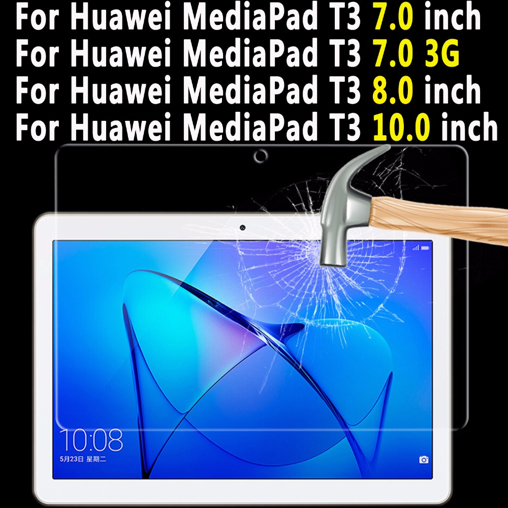 Premium Quality Tempered Glass for Huawei Mediapad T3 7.0 8.0 10.0 Tablet Screen Protector For Huawei Mediapad T3 10.0 8.0 7 3G for huawei mediapad t3 8 inch glass for huawei mediapad t3 9 6 inch m3 8 8 4 10inch m5 8 4 10 8inch tablet screen protector