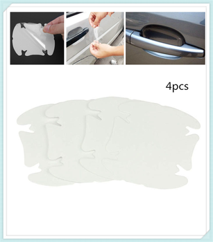 Car shape door handle protective film handle transparent stickers for Ford Taurus Mondeo Galaxy Falcon Everest S-MAX Escort image