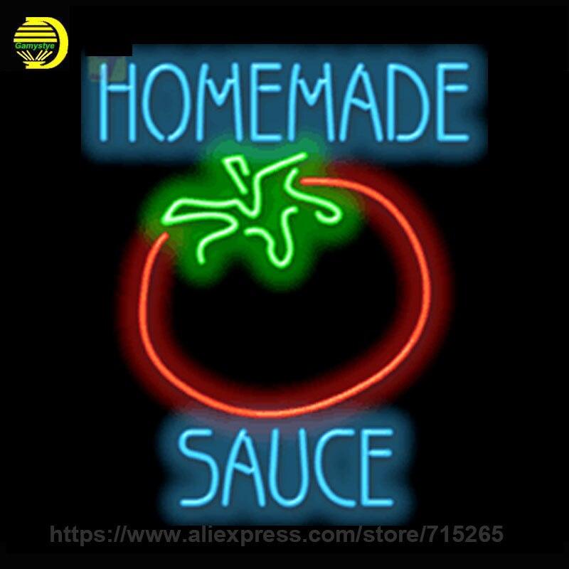 New Neon Sign Glass Homemade Sauce Neon Light Sign Bakery Cool Neon