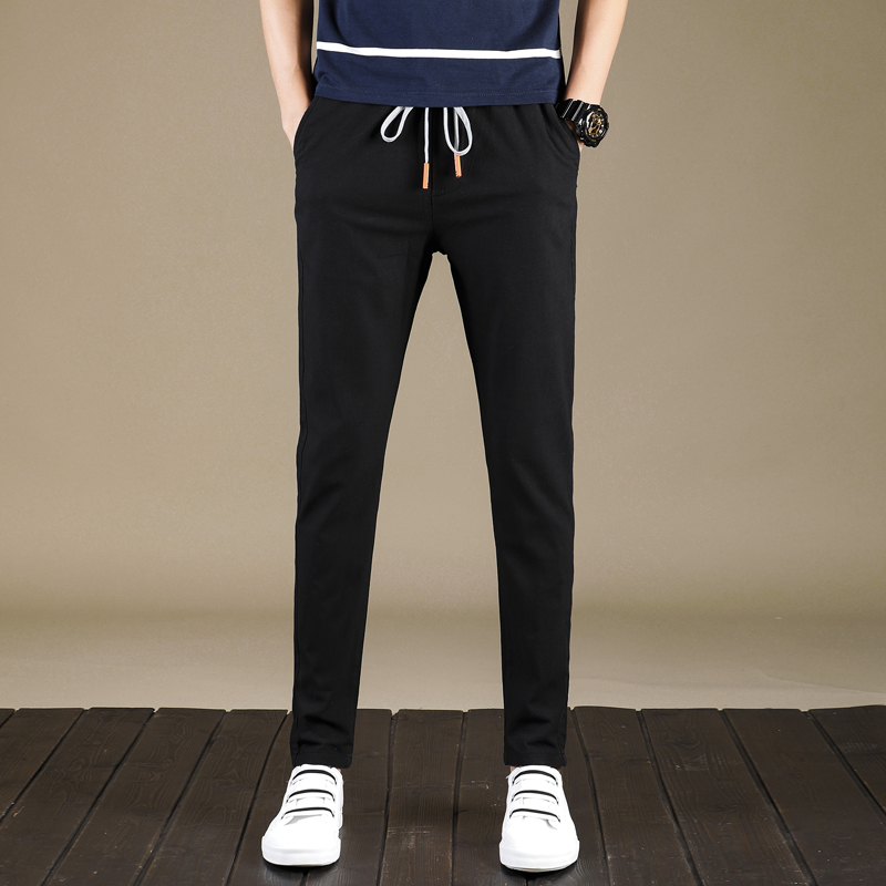 2018 Fashion Solid Sweatpants Men Casual Pant Joggers Breathable Pencil Pants Drawstring New High Quality Male Trousers 9901