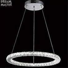 Современный светодиодный светильник для люстры с кристаллами, светильник для спальни, кухни, D20cm, D30cm, D40cm, D50cm, D60cm, D70cm, светодиодный светильник