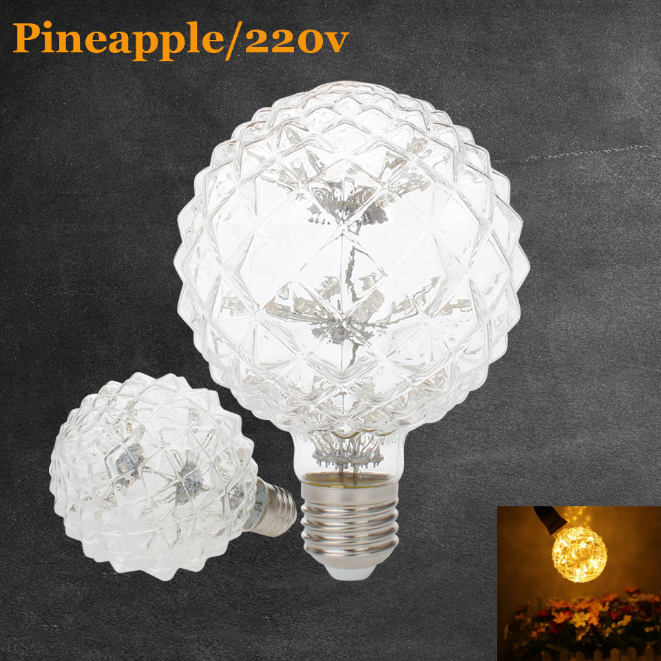 Led lamp e27 led bulb 3W Christmas Pineapple lights 220v 240V Filament Bulb Holiday Light Decor for Home Warm White Lamp 2700K led smart emergency lamp led bulb led e27 bulb lights light bulb energy saving 5w 7w 9w after power failure automatic lighting