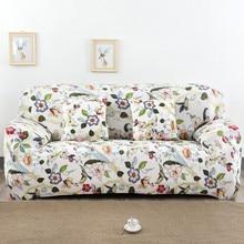 Spandex Stretch Bunte Blumenmuster Sofa Abdeckung Große Elastizität 100% Polyester Sofa Möbel Abdeckung