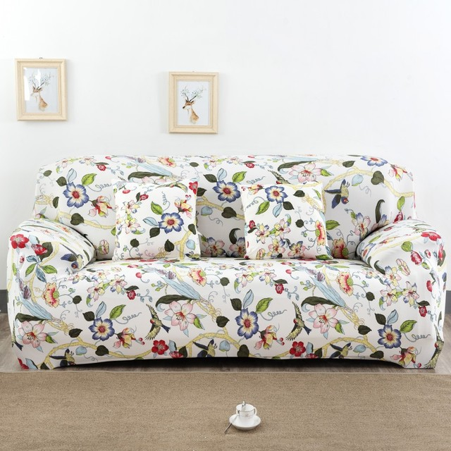 Spandex Stretch Colorful Flower Pattern Sofa Cover Elasticity 100 Polyester Furniture