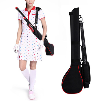 I highly recommend Golf bag golf gun bag for men and women gun bag with 6-7 clubs to carry ease