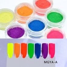 Wholesale-7colors Neon Pigment Powder Ombre Pigments Gradient Nail Dust (5g jar 7jars/set)