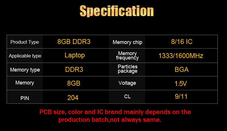 DDR3 8G 1333 1600