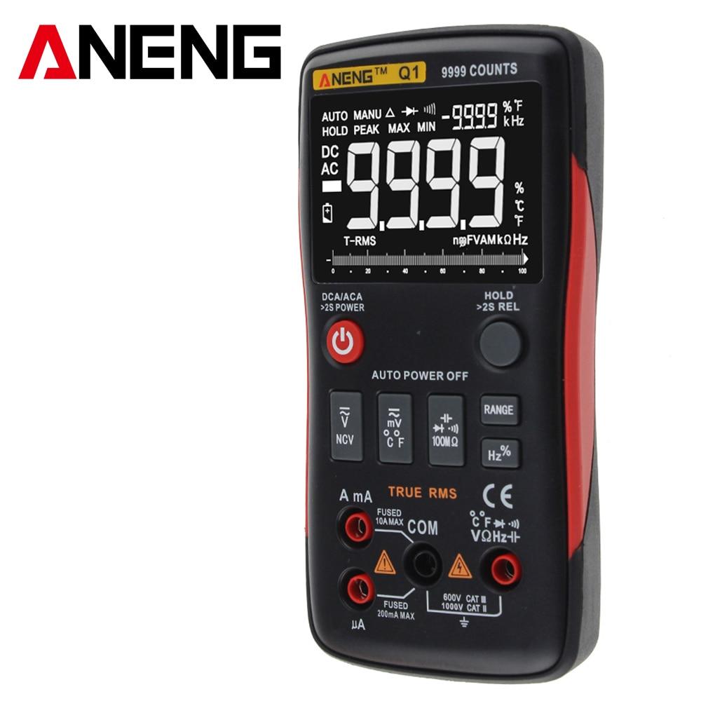 ANENG Q1 True RMS Digital multimeter esr meter testers automotive electrical dmm transistor tester peakmeter resistor hp bside