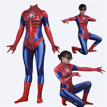 New Cartoon Superior spider man Cosplay Costumes Peter Parker Superhero Zentai Spider Man Unisex Bodysuit Jumpsuits S