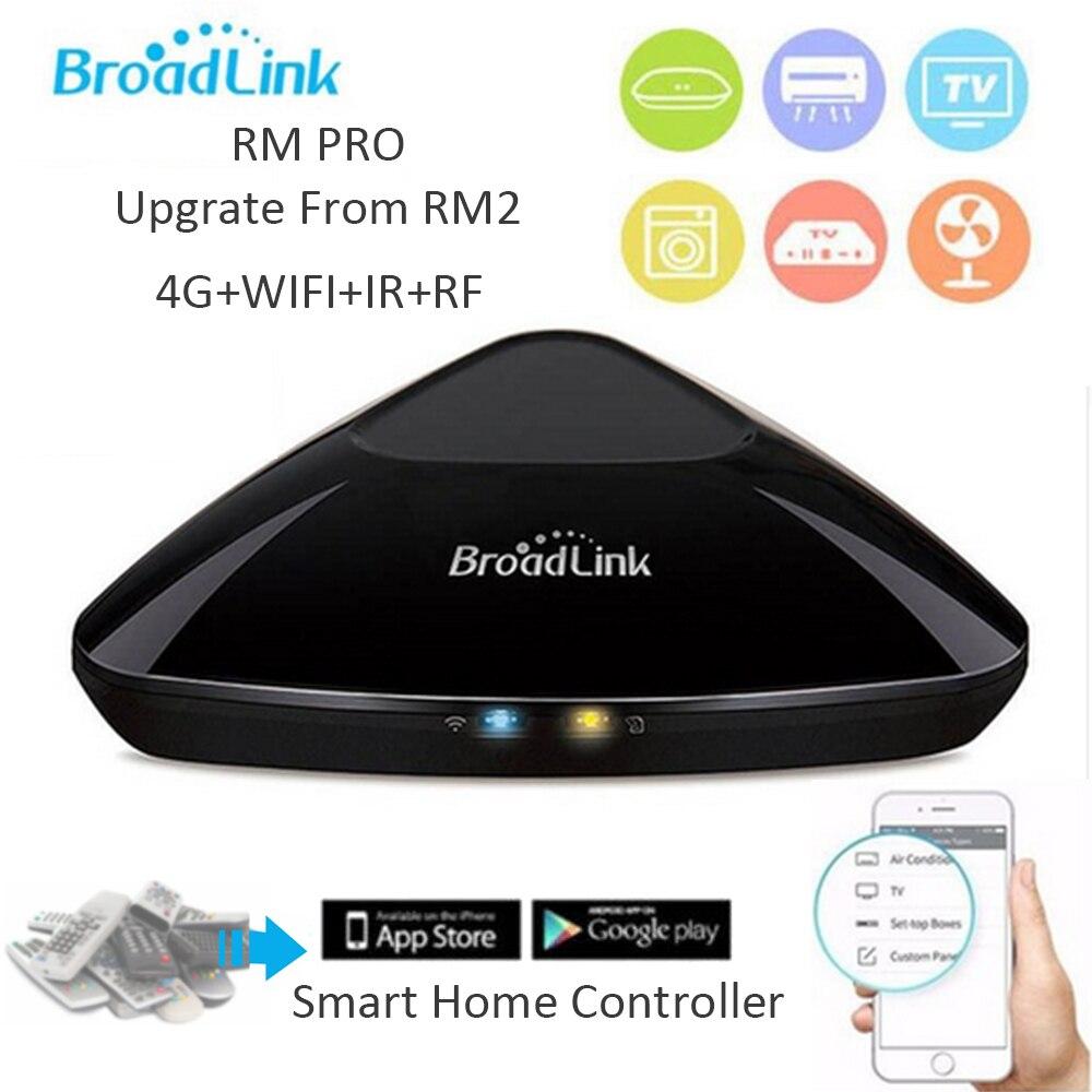 Broadlink D'origine Smart Domotique RM Pro Contrôleur Travail pour Alexa Google Maison RF 433 MHz Sans Fil WiFi + IR + RF + 4G APP