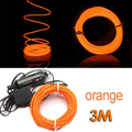 EDFY 3M Flexible EL Wire Neon LED Light - Orange