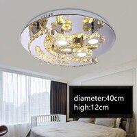 IWHD современный потолочный светильник K9 с украшением в виде кристаллов светодиодные плафоны потолочные светильники Нержавеющаясталь плаф