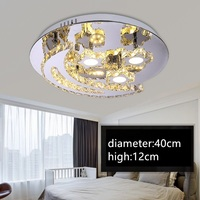 IWHD Modern Ceiling Lamp K9 Crystal Plafon LED Ceiling Lamps Stainless Steel Plafonnier Bedroom Living Room