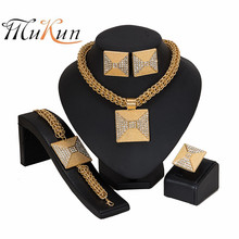 MUKUN Dubai gold-colorful Luxury Jewelry Sets Brand italian jewelry sets for women Fashion statement set Wholesale